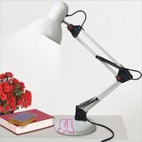 Eisen Faltbare Lange-Arm Schreibtisch Lampe Lese lampe LED Tisch lampe E27 basis 110 v-220 v AC mit Stecker Kostenloser Versand