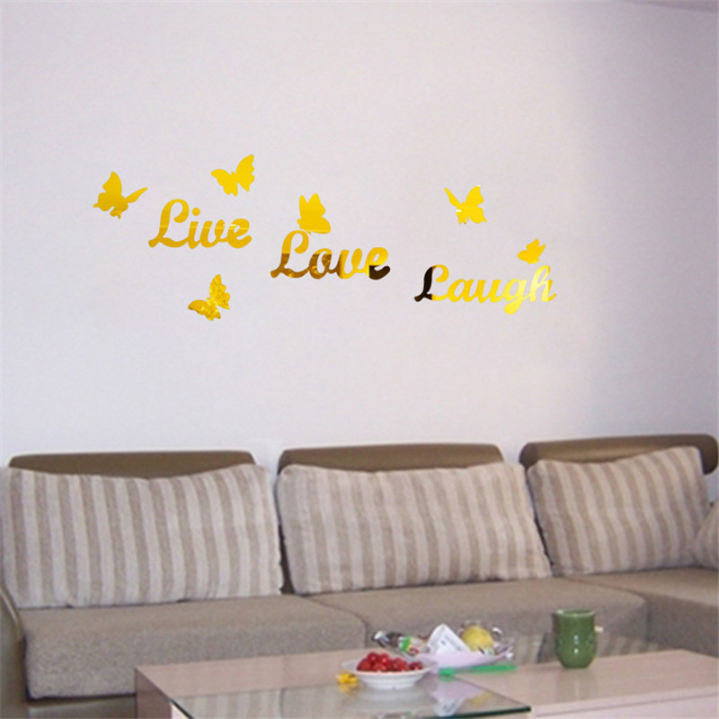 Creative home love lover word 3D Acrylic DIY LIVE mirror wall stickers home Decoration accessories home decor kids rooms  home word mirror   Mirror Text in Microsoft Word 2010 / 2013 / 365 Creative font b home b font love lover font b word b font 3D Acrylic DIY