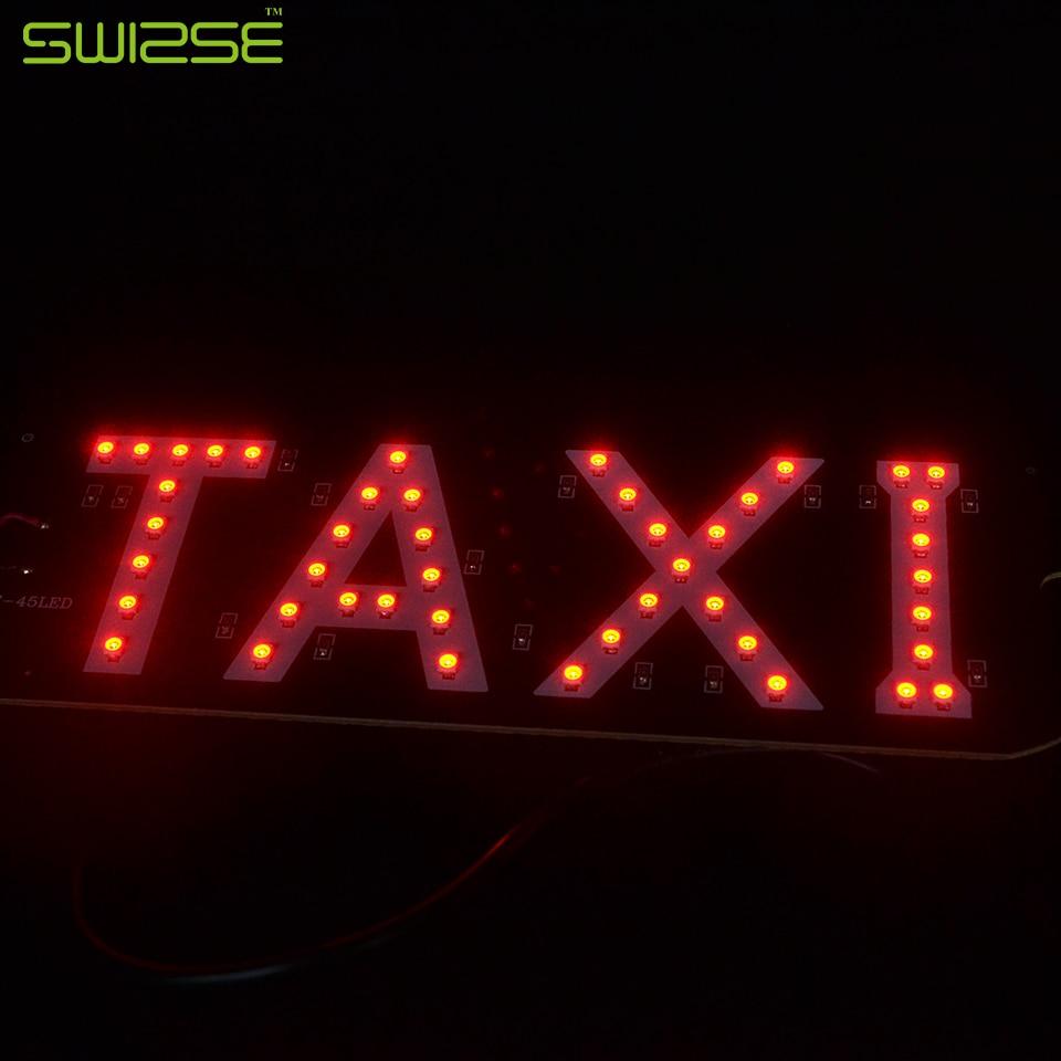 1 шт. Универсальный лобовое стекло автомобиля кабины светодиодный знак такси знак огни Лампы для мотоциклов бар DC 12 В Авто источник света ст...