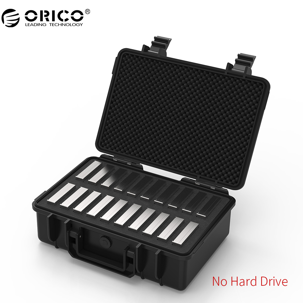 ORICO 20-bay 3.5 inch Hard Drive Protection Case with Water-proof Dust-proof Shock-proof HDD Storage and Protection (PSC-L20) silicone shock proof fall proof dust proof case w stand for ipad air 2 9 7 camouflage black