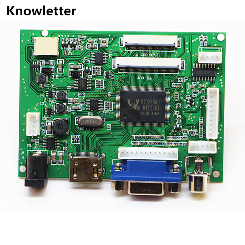 HDMI+VGA+ 2AV+Audio 40pin 50pin LCD Driver Controller Board Kit For Panel AT065TN14/AT070TN90/AT070TN92/AT070TN94/AT090TN10