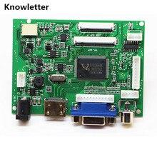 Hdmi + vga + 2av + áudio 40pin 50pin lcd driver controlador placa kit para painel at065tn14/at070tn90/at070tn92/at070tn94/at090tn10