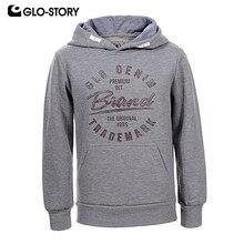 GLO-STORY Teenage Children Boys Fleece Hoodies Kids Casual Streetwear Pullover Tracksuit Sweatshirt European Style  BPU-6640