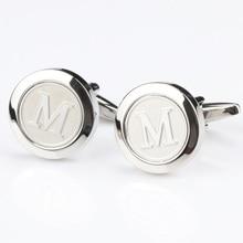 Mens Classic silver Initial Cufflinks Alphabet Letter Cufflinks Formal Business