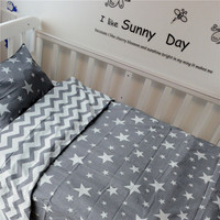 Free Shipping New Arrived Hot Ins Crib Bed Linen 3pcs Baby Bedding Set Include Pillow Case