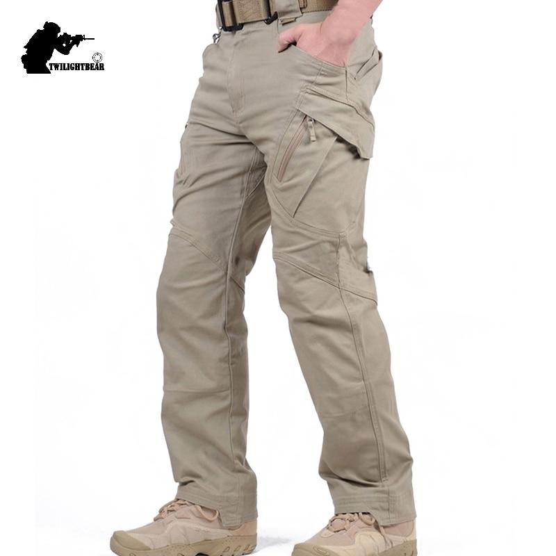 New Men's Stretch Tactical Pants Multiple Pocket  Military Cotton Urban Combat Pant Men Slim Work Cargo Pant 3XL BFIX79