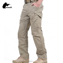 New Mens Stretch Tactical Pants Multiple Pocket Military Cotton Urban Combat Pant Men Slim Work Cargo Pant 3XL BFIX79