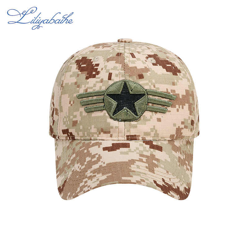 Модная кепка LILIYABAIHE, хлопковая камуфляжная бейсболка с snapback и логотипом с вышивкой