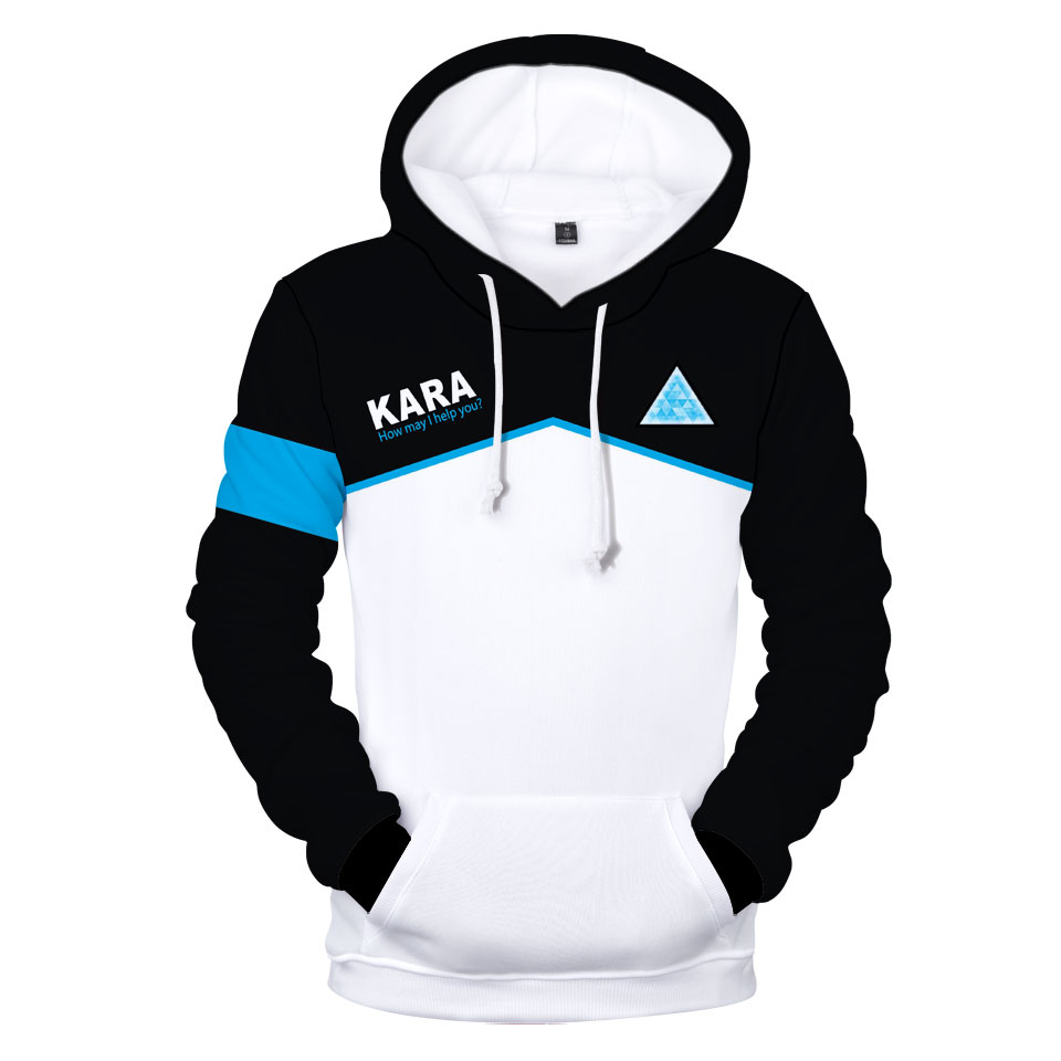 Hot Games Detroit Become Human 3D Print Hoodie Sweatshirt XXS To 4XL Unisex Casual Loose Style Hoodies Clothes