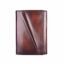 TERSE_2016 New Arrival Card Wallet Handmade Genuine Leather Card Holder 3 Colors with Money Pocket Dropshipping Service OEM ODM