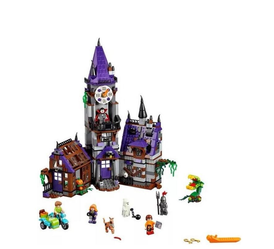 Bela 10432 860pcs Scooby Doo Mysterious Ghost House Building Block Toys Compatible Legoingly Any Blocks 10432 scooby doo mysterious ghost house mode building blocks educational toys 75904 for children christmas gift legoingse toys