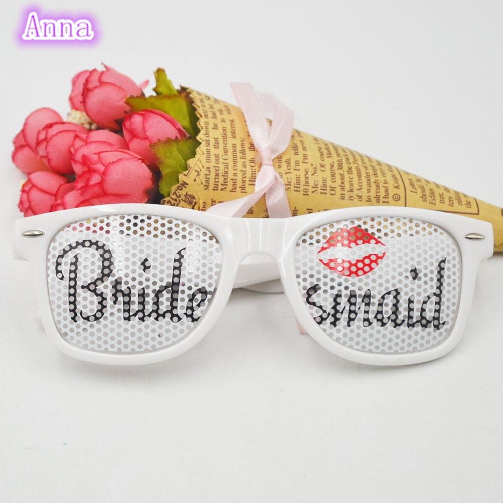 1pc Bride maid white Party Sunglasses Party Favors Bridal ...