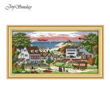 New Arrival Joy Sunday Cross Stitch Patterns Comfortable bay Kits Embroidery Needlework Sets Printed DMC 11CT 14CT
