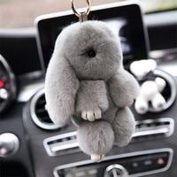 18cm Fashion Fluffy Bunny Cute Rabbit Fur Keychain Cute Rabbit Doll Pendant Car Bag Pendant Girl