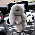 18cm Fashion Fluffy Bunny Cute Rabbit Fur keychain Cute Rabbit Doll Pendant Car Bag Pendant Girl Best Gift
