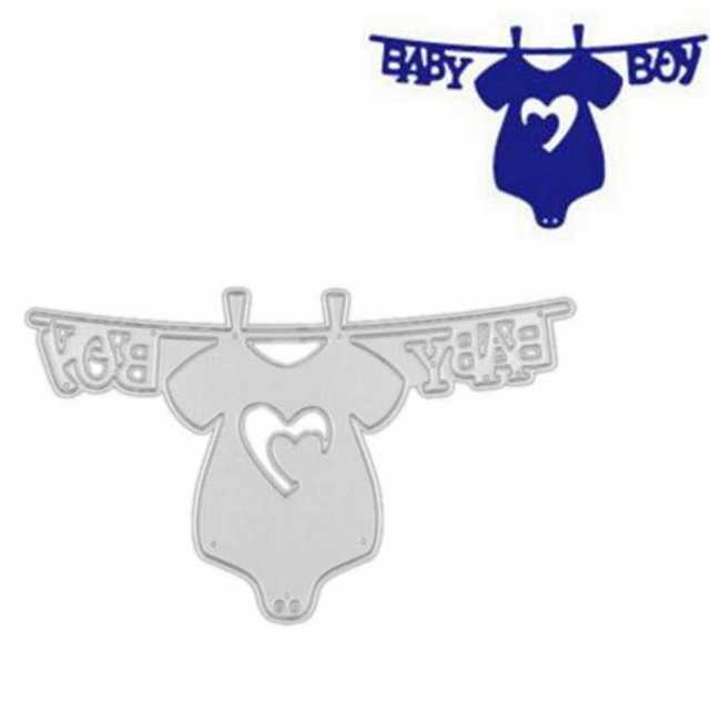 Baby Boy hang clothes Metal Cutting Dies For Scrapbooking Stencils