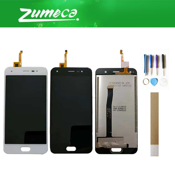 5.0 Inch For BQ Mobile BQ 5012L Rich BQ5012L BQ 5012L LCD Display Screen+ Touch Screen Digitizer White Black Color +Tape&Tool