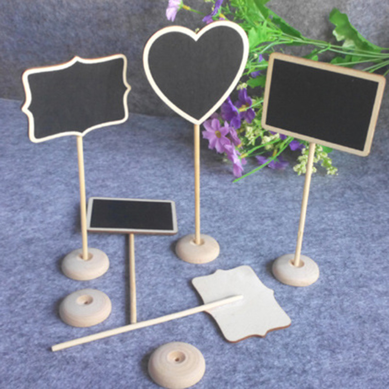 1pcs Mini Blackboard Restaurant Bar Decoration Booking Signage Wedding Table Small Blackboard Can Standy Up Fa7 ...