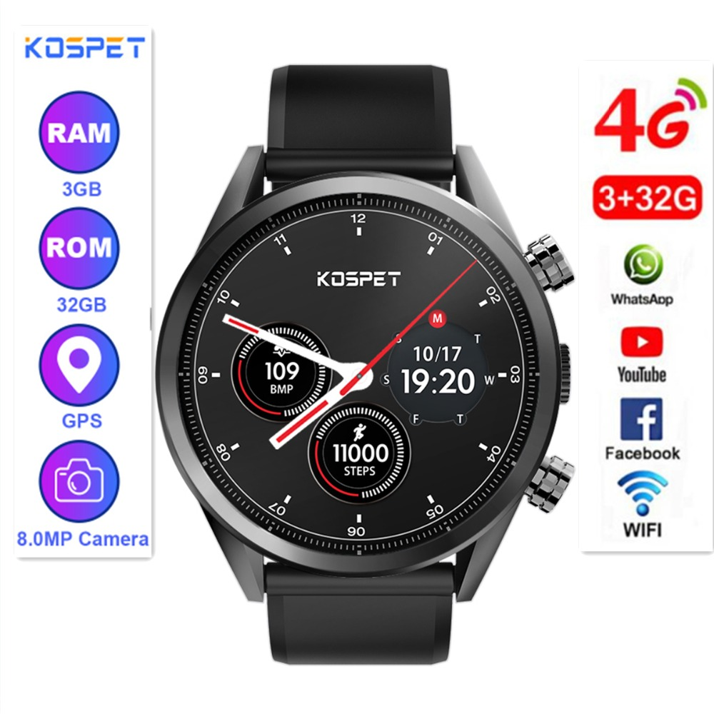 Kospet Hoffen Smartwatch 3 GB + 32 GB Dual 4G 1,39
