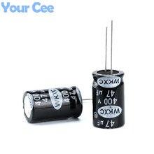 10 шт. электролитические конденсаторы 400 В 47 мкФ 16×23 мм Алюминий электролитический конденсатор