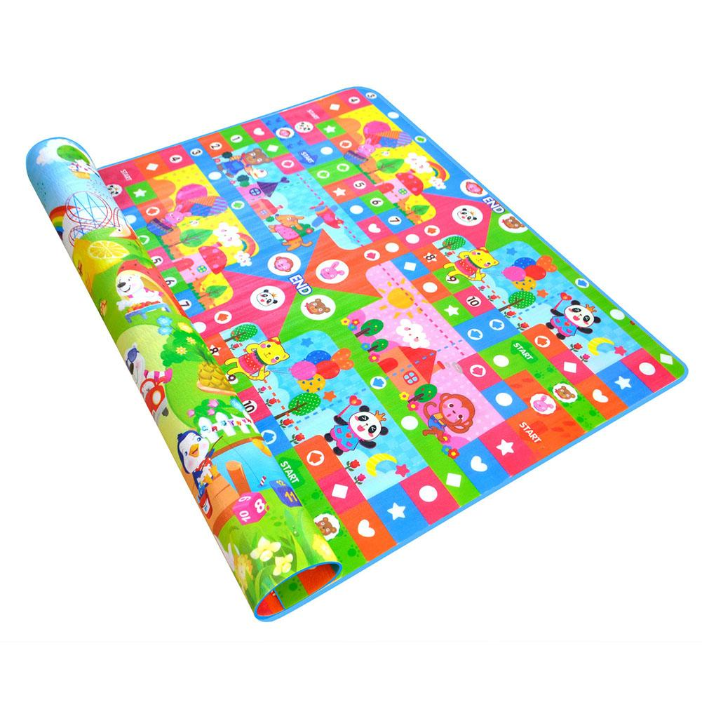 Aeroplane Chess Style 2*1.8M 0.5CM Children's Thickness Double-sided Pattern Crawling Mat For Baby