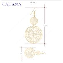 Dangle Long Earrings For Women Classic Pattern Hollow Round Bijouterie Hot Sale No.A339 A340