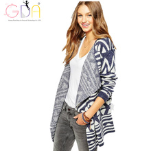 GDA.Autumn Cardigans Vintage Pattern Print Casual Fashion Women Long Sweaters Loose Warm Knitted Cardigans Long Sleeve Outwears