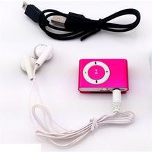 MLLSE Protable Mini Mp3 Player de Música Mp3 Player Apoio Às Micro TFCard slot usb mp3 player esporte porta usb com fone de ouvido para iphone
