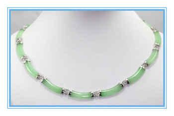 Noble vert bijoux lien collier 17 polegada livraison gratuite