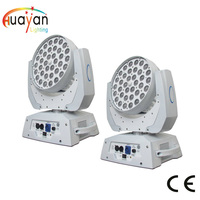 Free Shipping 2PCS/PACK Hot Products 36*18w rgbwa+uv 6in1 led dmx zoom moving head wash lighting with 3 rings control beam/wash