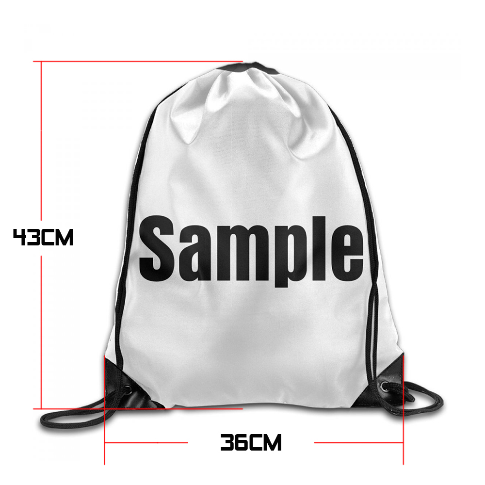 Samcustom 3d Print Bee Happy Shoulders Bag Women Fabric Backpack Girls Beam Port Drawstring Travel Shoes Dust Storage Bags #2