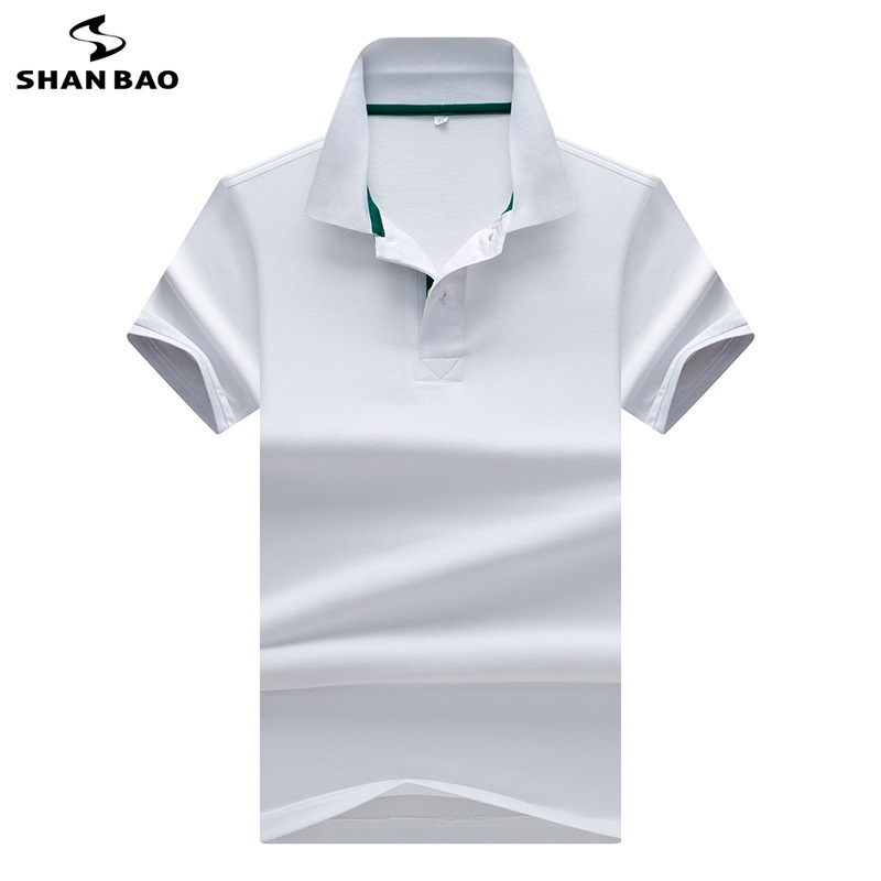2019 summer new business gentleman men's casual lapel short-sleeved   Polo   shirt luxury high quality cotton solid color   Polo   shirt