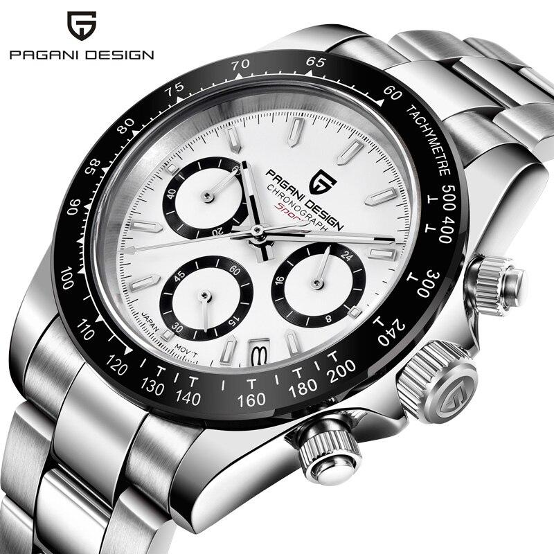 2019 pagani design hot watch 남성 다기능 시계 스테인레스 스틸 스트랩 비즈니스 럭셔리 쿼츠 손목 시계 relogio masculino-에서수정 시계부터 시계 의  그룹 3