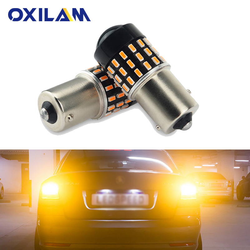 OXILAM 2Pcs PY21W P21W Bulb LED Car Turn Signal font b Lamp b font Light 1156