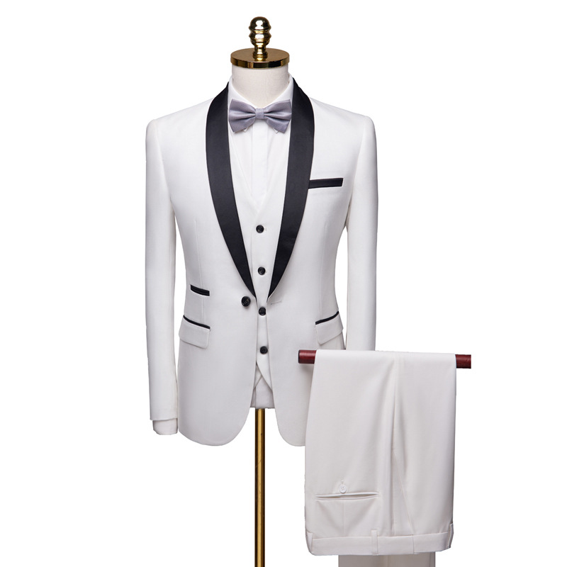 2019 Luxury Mens Suit Jackets Slim 3 Pieces Suit Blazer Business Wedding Party Male Jacket+Vest+Pants Plus Size 6xl Men Suit Set