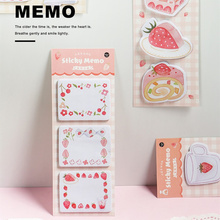 6 pcs Sweet food sticky memo pads set Strawberry Cake Lemon Cookies color note stickers marker Stationery Office School A6639 1 pcs 7 10 colors pet 20 sheets per color index tabs flags sticky note for page marker stickers office accessory stationery