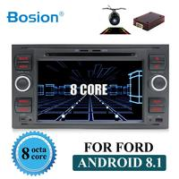 Pure Android 8.1 Car DVD GPS Navi Player Stereo Radio Audio 4G For Ford Focus 2 Mondeo S C Max Fiesta Galaxy Connect With canbus