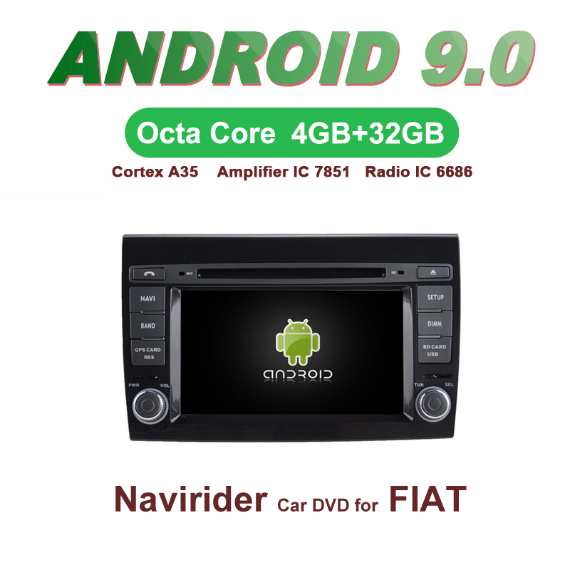 OTOJETA Car GPS Android 9.0 Radio FOR FIAT BRAVO multimedia stereo Navigation with DVD Capacitive screen Support Mirror Link