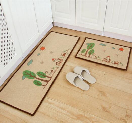 2pcsset long kitchen carpet absorbent bathroom floor mat corridor hallway area rugchina