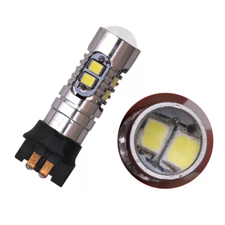 Car 12V led PW24W Light bulb 2323 10smd 6000K Cars Signal Light LED High Power Lamp for-in Signal Lamp from Automobiles & Motorcycles