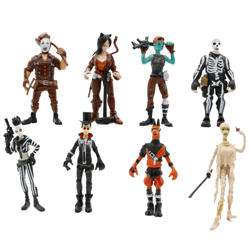 8pcs set PUBG Game Figure Toy 8 5 10cm PUBG game Character PVC Action Figures Toy For children Gift BKX133 in Action Toy Figures from Toys Hobbies