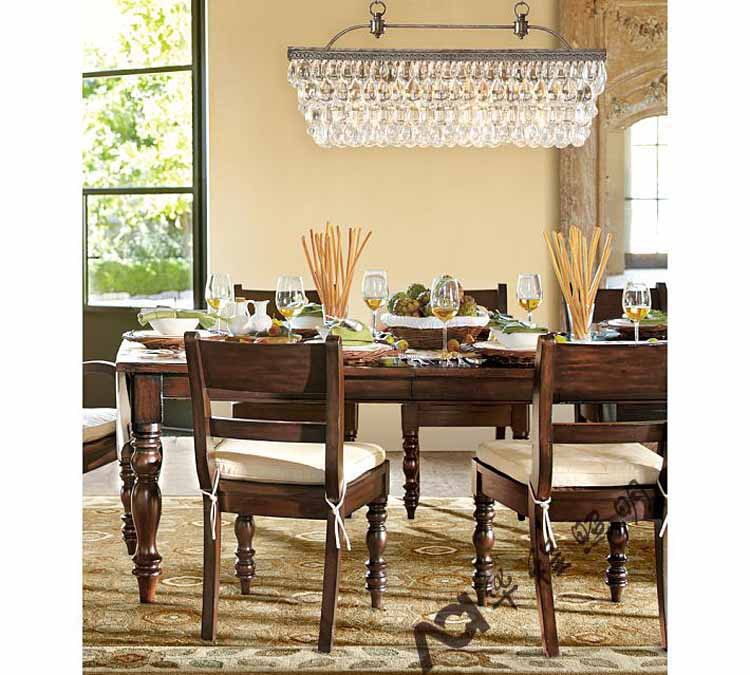 Rectangular Wrought Iron Chandelier Pictures Of Dining