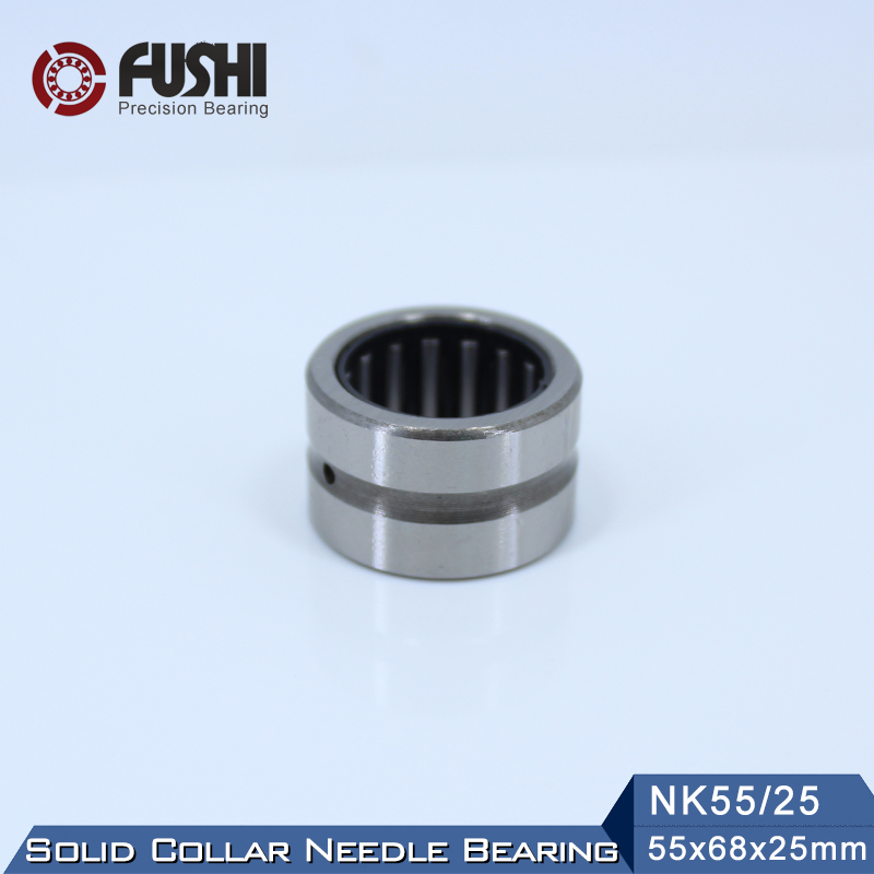 NK55/25 Bearing 55*68*25 mm ( 1 PC ) Solid Collar Needle Roller Bearings Without Inner Ring NK 55/25 NK2225 Bearing rna6912 heavy duty needle roller bearing entity needle bearing without inner ring 6634912 size68 85 45