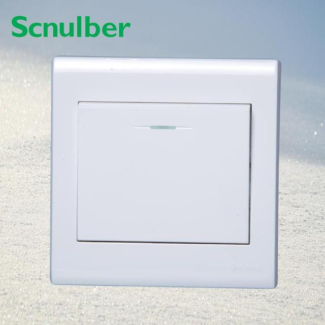 10A 220v white one 1 gang two 2 way light lamp on off wall switch ...