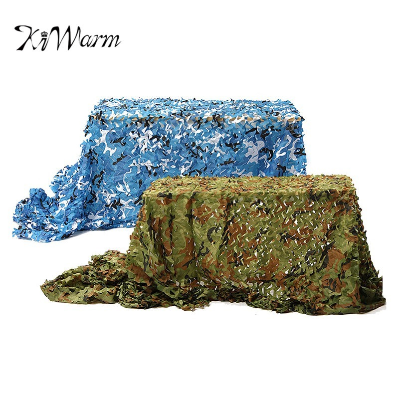 KiWarm Useful 7x2m Desert Digital Camo Net Military Camouflage Netting Games Camouflage Net Hunting Camping Hide Garden Cover