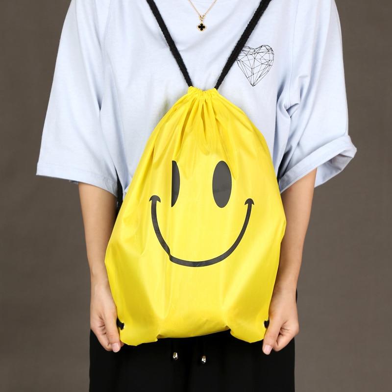 Polyester Fiber Pocket Shoulders Package Water Canvas Drawstring Motion Backpack Accept Bag