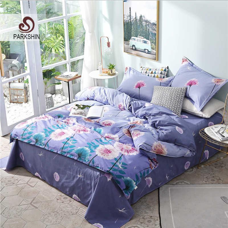 1b56bf567fcb ParkShin Постельное белье Одуванчик синий покрывало взрослых двуспальная  кровать листов одеяло пододеяльник комплект постельного белья queen