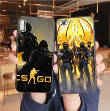 Popular First person game CS GO Soft TPU Back Cover Phone Case For Coque iPhone XS 7 8 MAX 6 6S Plus X XR