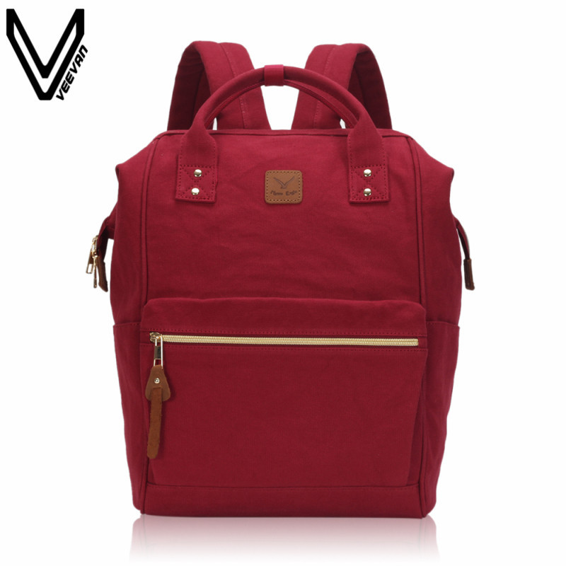 2017 Preppy Style Canvas Bookbags Women School Backpacks For Teenage Girls Lightweight Ring Backpack Big Capacity Laptop Bags