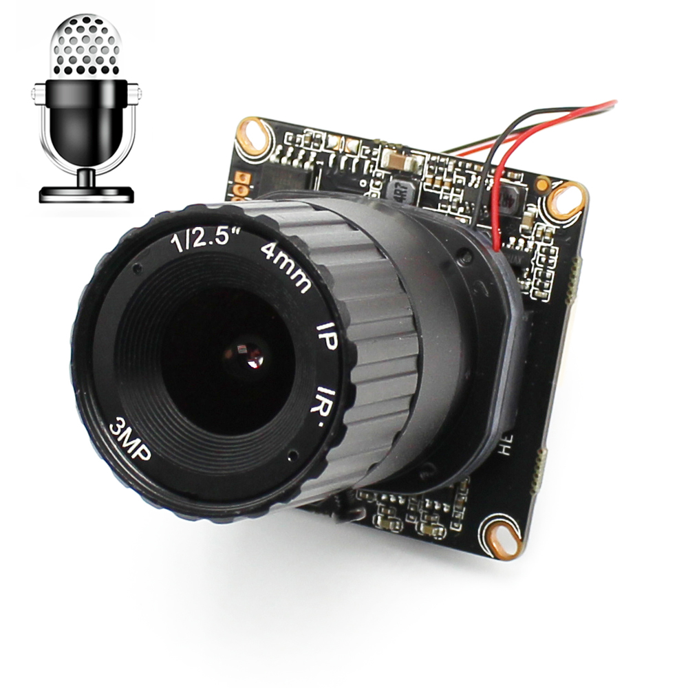AHWVSE 720 P 960 P 1080 P IP Caméra Module PCB conseil Audio entrée Avec Externe Ramassage Microphone CCTV Réseau Caméra IP ONVIF P2P